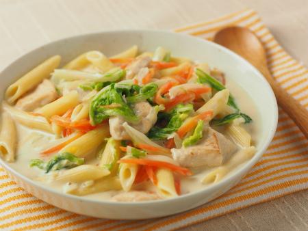 白菜と鶏むね肉のクリームペ19