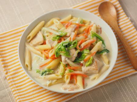 白菜と鶏むね肉のクリームペ17