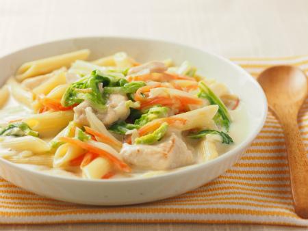 白菜と鶏むね肉のクリームペ07