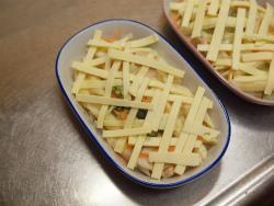 白菜と鶏むね肉のグラタン風11