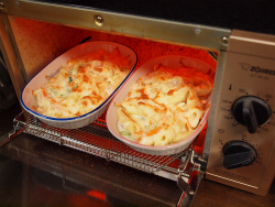 白菜と鶏むね肉のグラタン風13