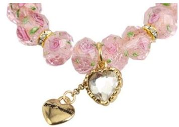 Tzarina Pink Beads Stretch Bracelet2