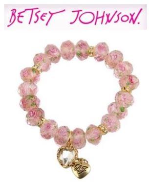 Tzarina Pink Beads Stretch Bracelet1