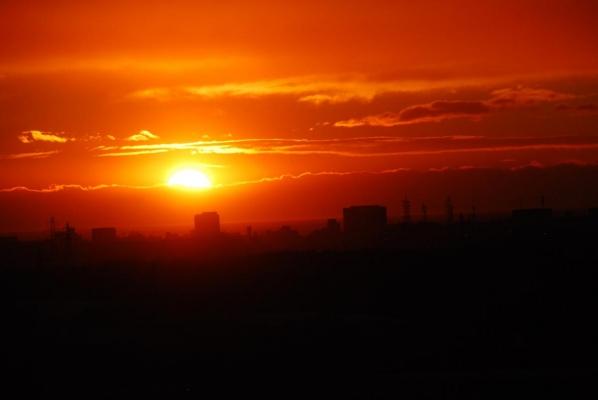釧路市 夕日