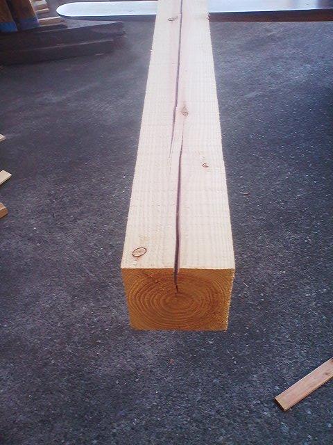 木材の割れ