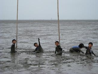 4年生干潟体験 6月24日-2