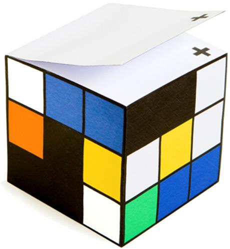 ルービックキューブのメモパッド