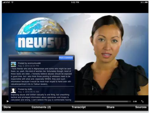 Newsy for iPad