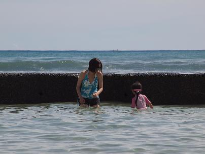 初日はのんびりビーチ