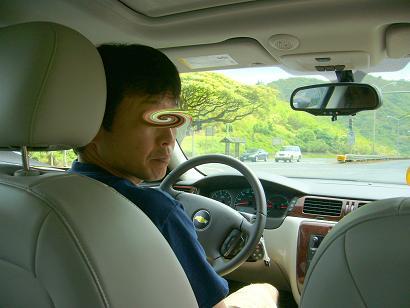 運転してるよ