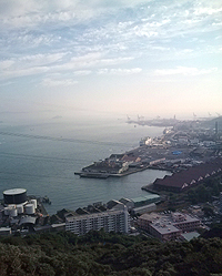 北九州旅行_めかり山荘からの眺め♪