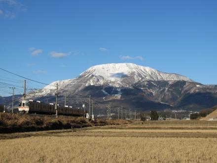 伊吹山と東海道線3
