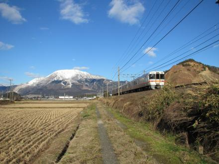 伊吹山と東海道線1
