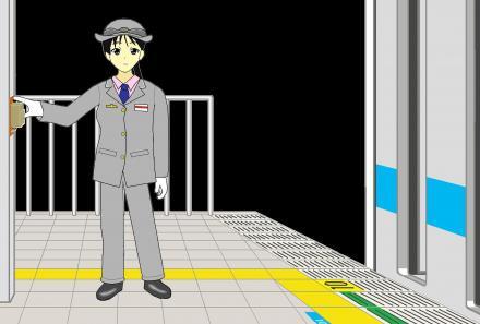 秋山澪 JR東日本車掌2
