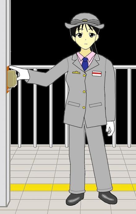 秋山澪 JR東日本車掌1