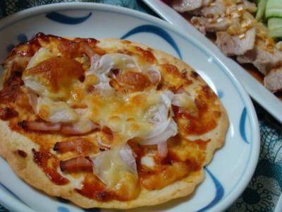 トルティーヤでピザ♪
