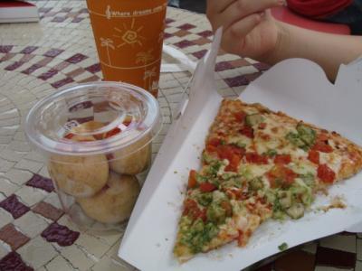ピザ&アップルティーソーダ!
