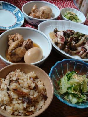 秋刀魚の炊き込みご飯定食!