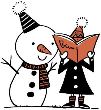 読書雪だるま