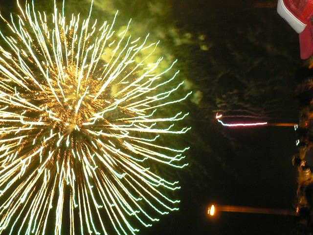灯篭祭の花火④