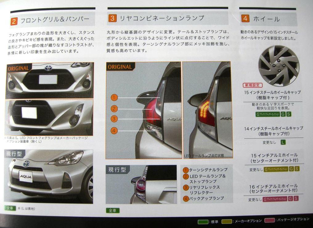 トヨタ 新型アクア 2015 フロント リヤ