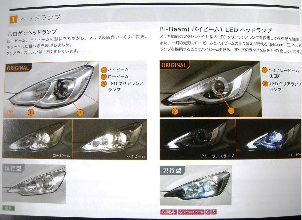 トヨタ 新型アクア 2015 ヘッドランプ