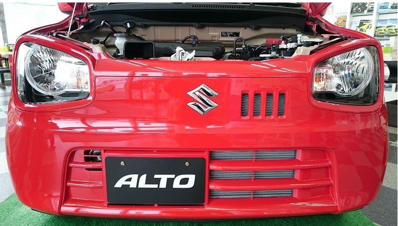 新型アルト 実車 赤