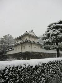雪と二条城