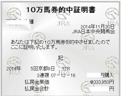 30万馬券京阪杯
