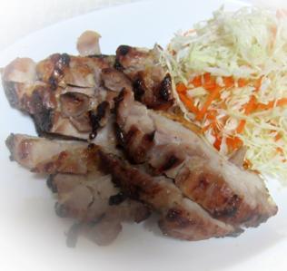 塩麹で鶏もも肉のグリル焼き