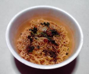 汁なし 辛担担麺(できあがり)