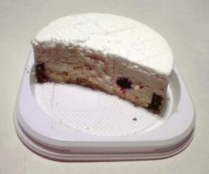 天使のレアチーズケーキ(断面)