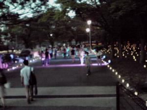 山里丸にて「光の宇宙」(大阪城 城灯りの景 2012)