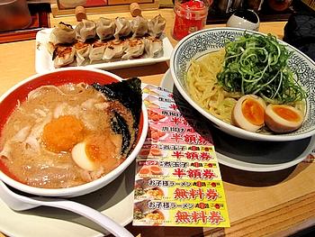 肉そばつけ麺・餃子