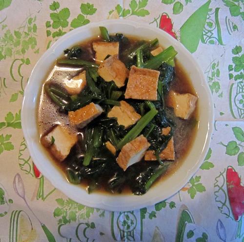 小松菜&厚揚げの炒め煮浸し