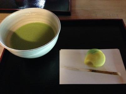 抹茶と銀杏
