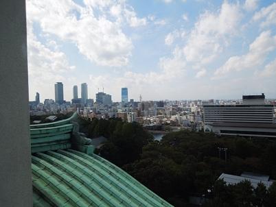 天守閣から名古屋駅方面の眺め