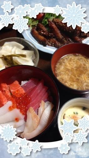2014  誕生日海鮮丼