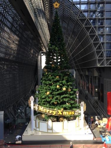 大階段のクリスマスツリー