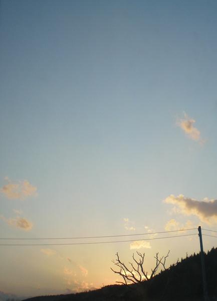 夕空 (クリックで拡大します)