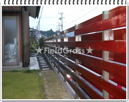 オリジナルフェンス完成裏側