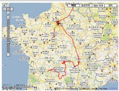 フランス原発放射線測定旅図