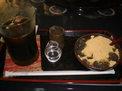 2010.7.10 わらびもち&アイスコーヒーセット