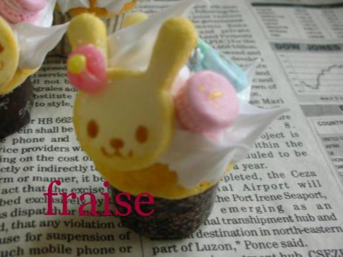 うさちゃんのカップケーキ3