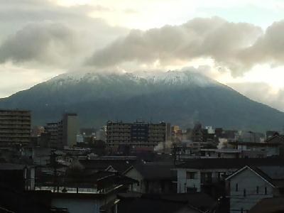 11月29日 桜島の初冠雪