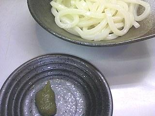 ゆずこしょうで麺