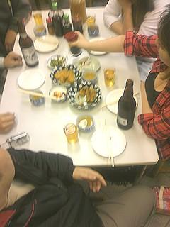 テーブル上