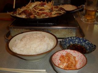 ロース焼定食