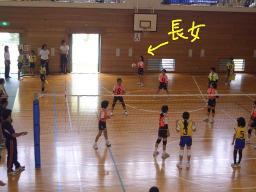 長女のバレーボール大会
