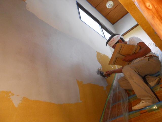 じゅらく壁塗り替工事